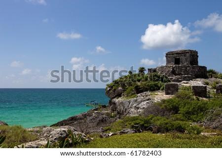 Ancient Maya city ruins of Tulum, Yucatan, Mexico - stock photo