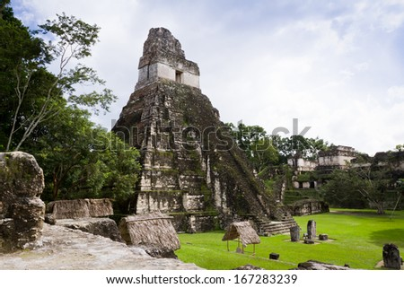 Ancient Mayan ruins in Tikal Guatemala November 2013