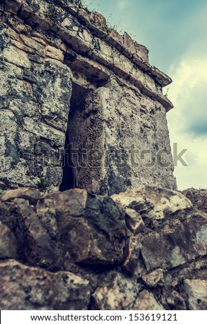 Ancient Mayan Tulum Ruins in Mexico - stock photo