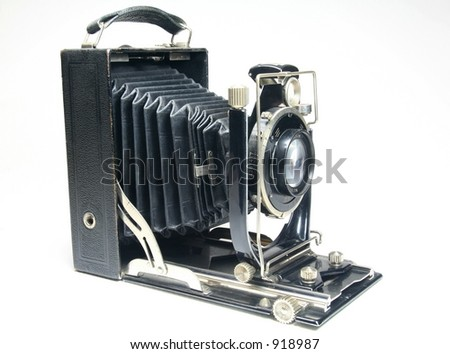 Ancient medium format camera - stock photo