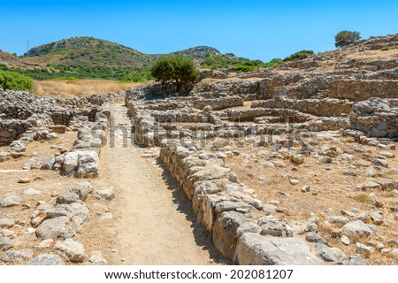 Ancient Minoan settlement Gournia. Crete, Greece