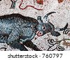 Ancient mosaic, Heraclea, Macedonia - stock photo