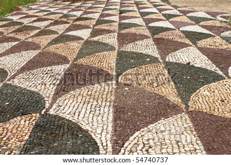 Ancient mosaic pattern in Caracalla Baths. Rome, Italy - stock photo