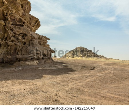 Ancient mountains - Jordan - stock photo