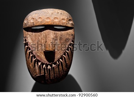 Ancient Native American Mask - stock photo