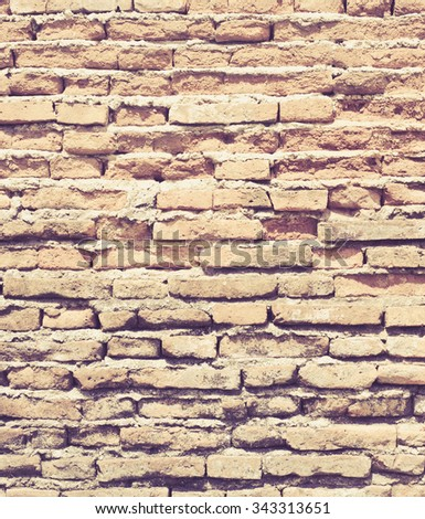 Ancient Old brick wall texture in a background