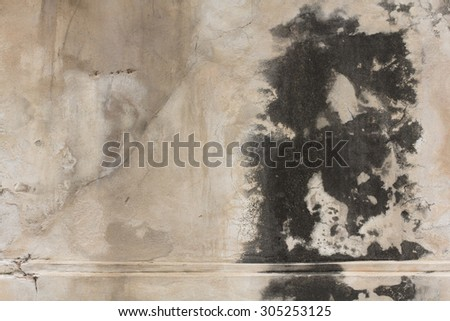 Ancient old cement wall. - stock photo