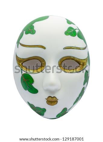 Ancient Opera Mask on white Background - stock photo