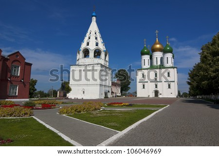 Ancient Orthodox Churches in Kolomna, Russia, Moscow Area - stock photo