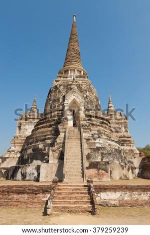 Ancient pagoda at thailand - stock photo