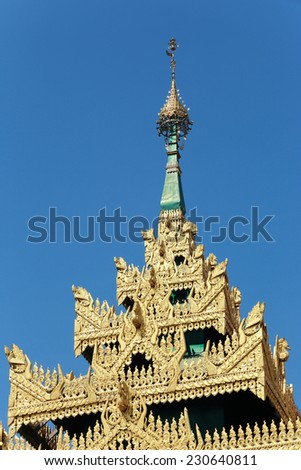 Ancient Pagoda on Buddhist temple in thailand.  - stock photo