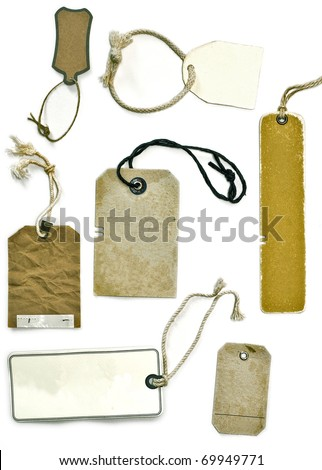 ancient paper cards - stock photo