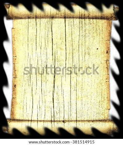 Ancient paper scroll. Isolated on white.