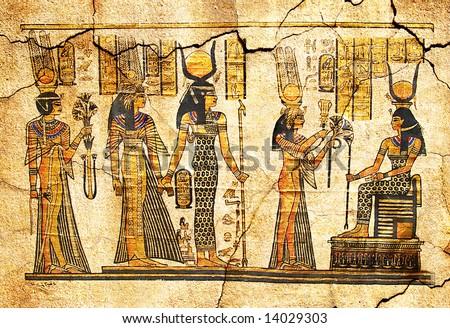 ancient papyrus - stock photo