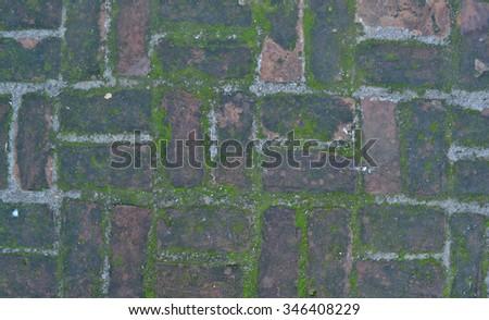 Ancient paving stones. Background - stock photo