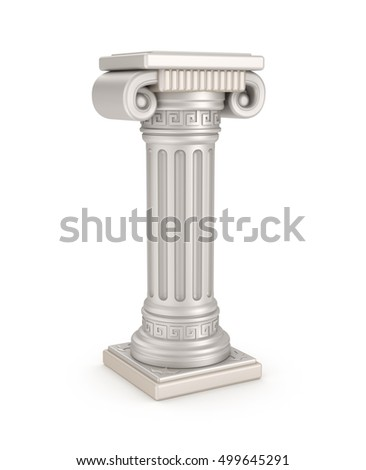 Ancient pillar from Rome, 3D illustration
