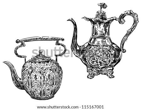 ancient pots - stock photo