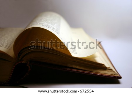 ancient prayer book - stock photo