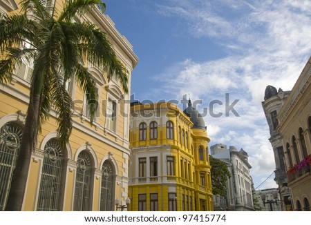 Ancient Recife - Pernambuco - Brazil - stock photo
