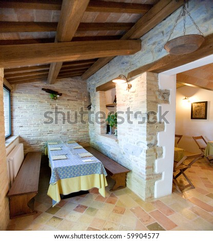ancient restaurant - stock photo