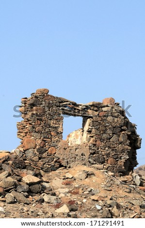 Ancient Rock House in Gran Canaria Island, Spain - stock photo