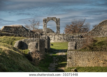 Ancient Roman Arch - stock photo
