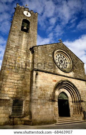 ancient roman church of Ponte de Lima, in the north of Portugal - stock photo