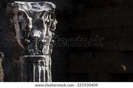 ancient roman column - stock photo