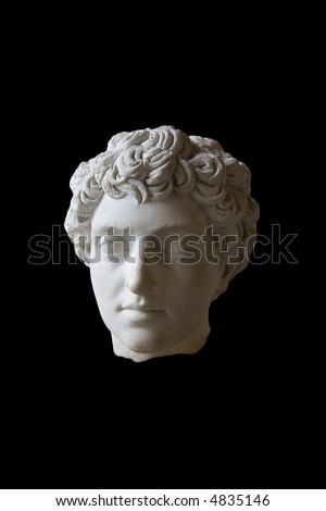Ancient Roman Head Sculpture in Marble