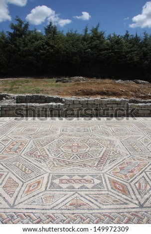 Ancient Roman ruins of Conimbriga, Portugal. 1st to 2nd centuries. - stock photo