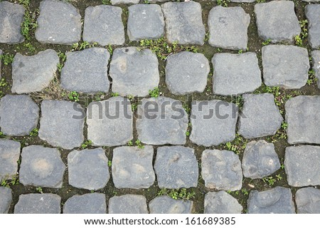 Ancient Roman Stone Walkway Background - stock photo