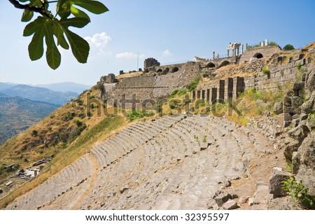 Ancient roman theater, Bergama, Turkey - stock photo