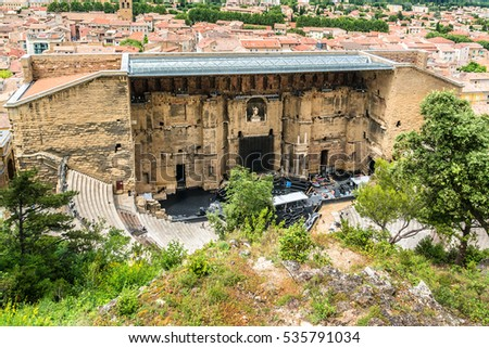 Ancient roman theatre orange listed world stock photo 535791034 ancient roman theatre of orange listed as a world heritage site by unesco is most publicscrutiny Images