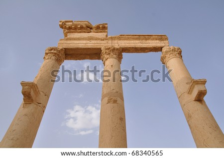 Ancient Roman time town in Palmyra (Tadmor), Syria.