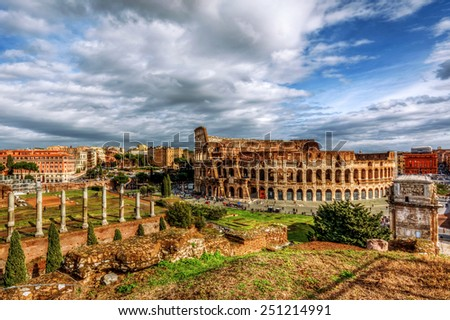 Ancient Rome - stock photo