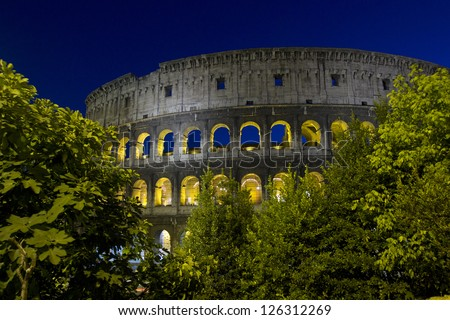 Ancient Rome, the Colosseum, Italy - stock photo