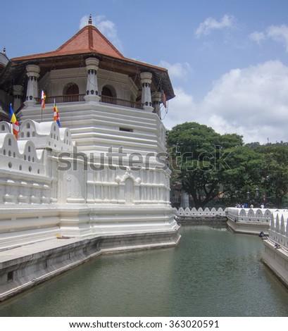 Ancient royal palace in Kandy, Sri Lanka - stock photo