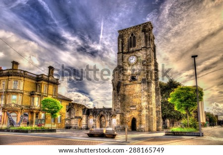 Ancient ruins in Southampton - Hampshire, England - stock photo