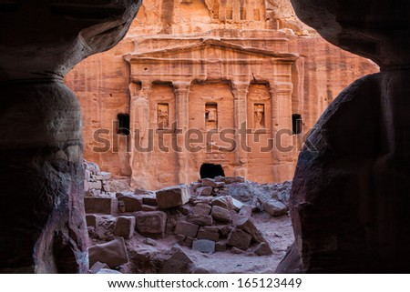 Ancient ruins of Petra Jordan