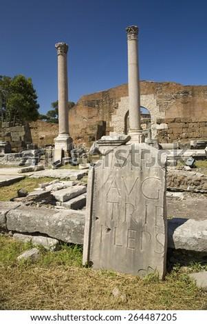 Ancient ruins of Roman Forum, Rome, Italy, Europe - stock photo