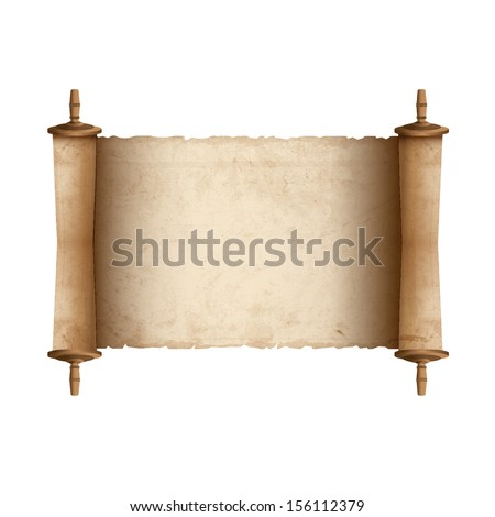 Ancient scroll.Raster version - stock photo
