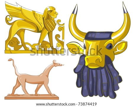 Ancient Sculptures - stock photo