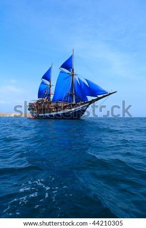 Ancient ship - stock photo
