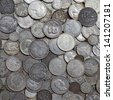 Ancient silver coins - stock photo