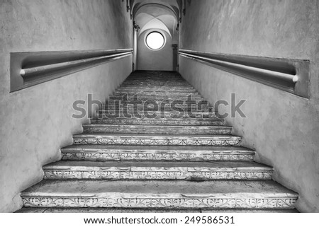 ancient stairway - stock photo