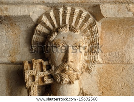 Ancient statue in Aix-en-Provence, France - stock photo