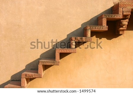 Ancient steps - stock photo