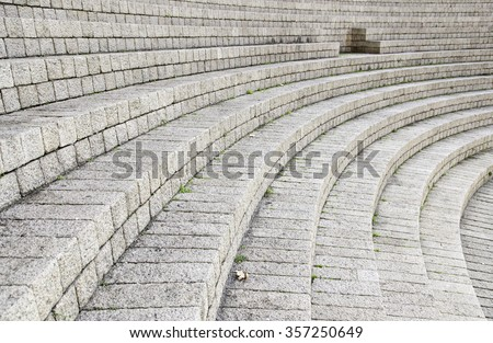 Ancient stone stairs, detail of old stairs, ancient architecture - stock photo