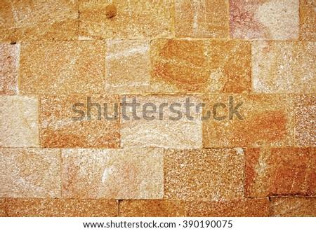 Ancient stone wall in Avila /Spain/ - stock photo