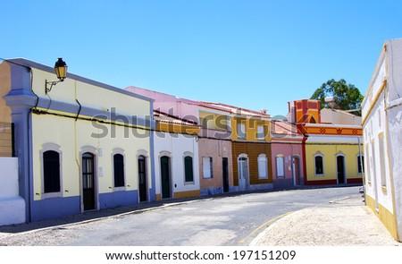 Ancient Street of the village ofCastro Marim. Portugal - stock photo